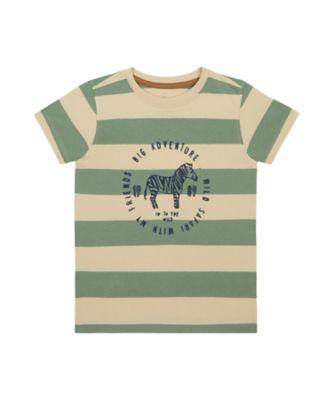 Mothercare Travel Blog Khaki Stripe Big Adventure Short Sleeve T-Shirt