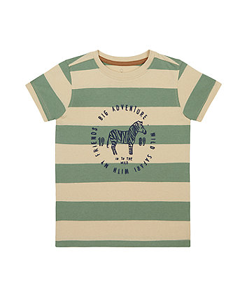 Mothercare Striped Big Adventure T-Shirt