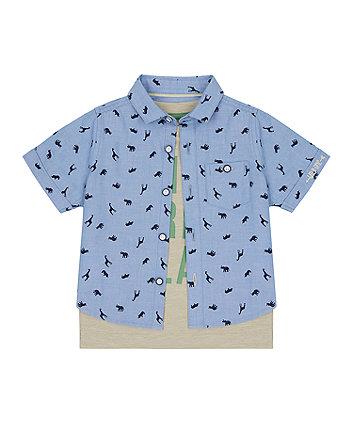 Mothercare Wild Free Play T-Shirt And Shirt Set