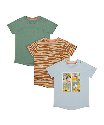 Mothercare Safari T-Shirts - 3 Pack