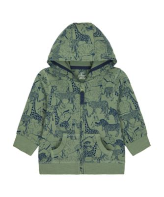 Mothercare Travel Blog Allover Print Animal Hoodie
