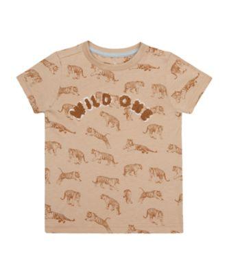 Mothercare Travel Blog Tan Wild One Short Sleeve T-Shirt
