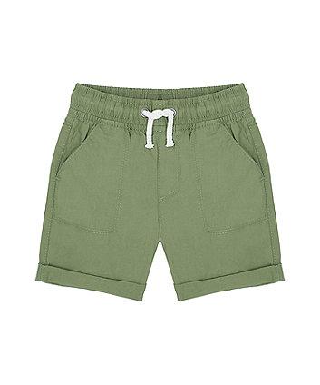 Mothercare Khaki Poplin Shorts