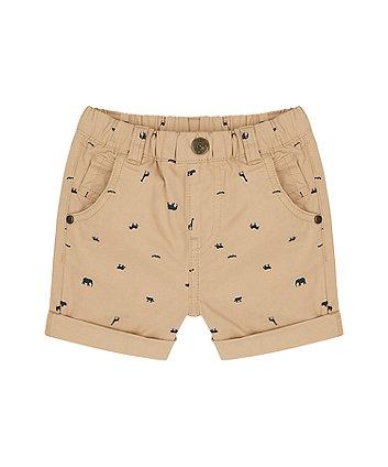 Mothercare Tan Animal-Print Shorts