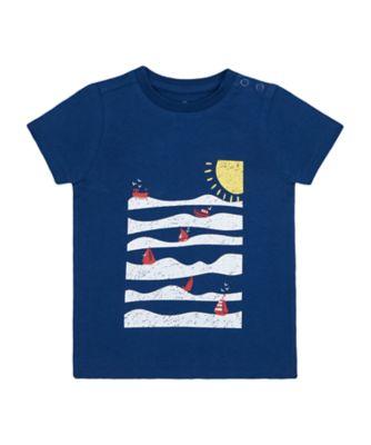 Mothercare Nautical Sea Scene Uber Short Sleeve T-Shirt