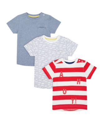 Mothercare Nautical Short Sleeve T-Shirts - 3 Pack