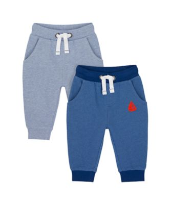 Mothercare Nautical Stripe Joggers - 2 Pack