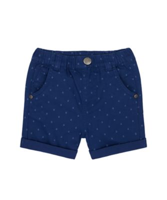 Mothercare Nautical Navy Allover Twill Short