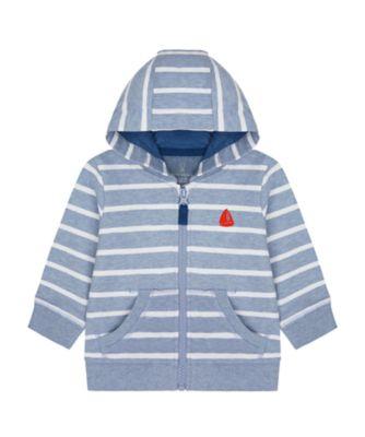 Mothercare Nautical Stripe Zip Front Hoody