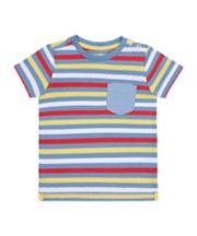 Mothercare Striped Chambray Pocket T-Shirt
