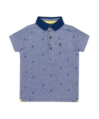 Mothercare Nautical Printed Blue Polo T-Shirt