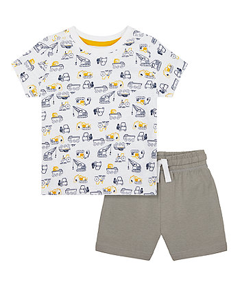 Mothercare Build It Shorts And T-Shirt Set