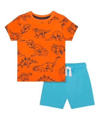 Mothercare Denim Dino Denim Shorts And T-Shirt Set