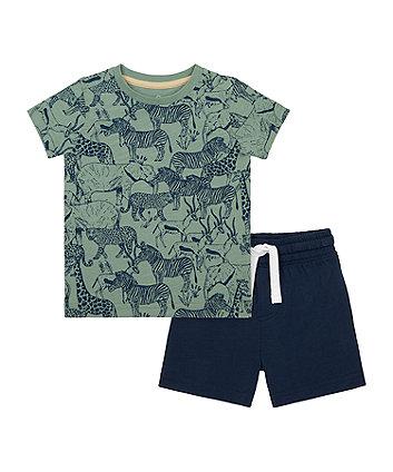 Mothercare Safari T-Shirt And Shorts Set