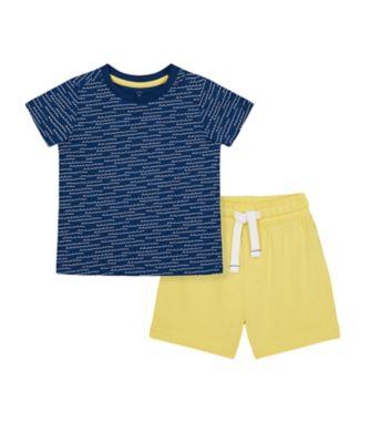 Mothercare Nautical Shorts And T-Shirt Set