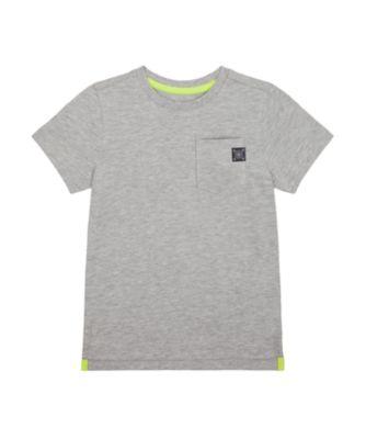Mothercare Tropic Cool Grey Pocket Slogan Short Sleeve T-Shirt