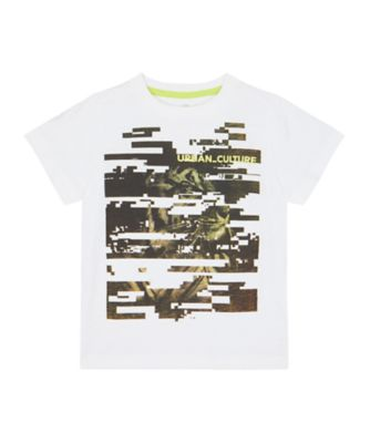Mothercare Tropic Cool White Photo Tiger Epp Short Sleeve T-Shirt