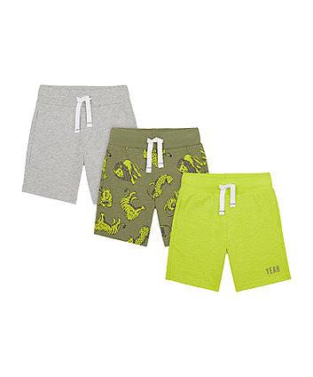 Mothercare Big Cat Shorts - 3 Pack