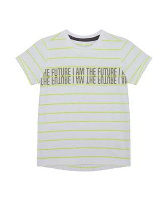 Mothercare Tropic Cool Future Stripe Short Sleeve T-Shirt