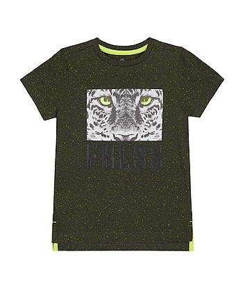Mothercare Black Leopard T-Shirt