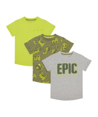 Mothercare Tropic Cool Epic Short Sleeve T-Shirt - 3 Pack