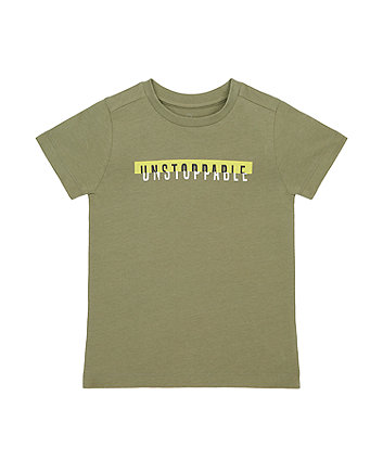 Mothercare Khaki Unstoppable T-Shirt