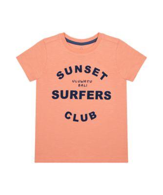 Mothercare Earth Surf Sunset Surfers Club Epp Short Sleeve T-Shirt