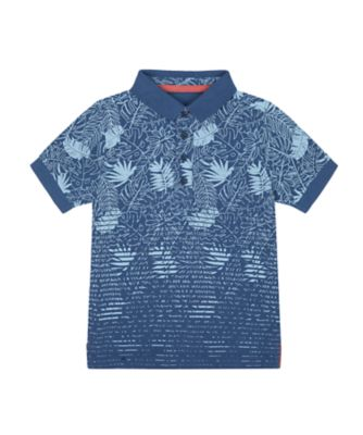 Mothercare Earth Surf Palm Navy Polo T-Shirt