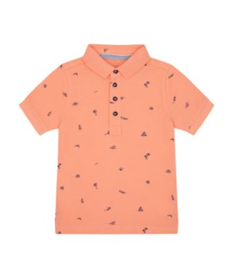 Mothercare Earth Surf Pink Allover Print Polo T-Shirt