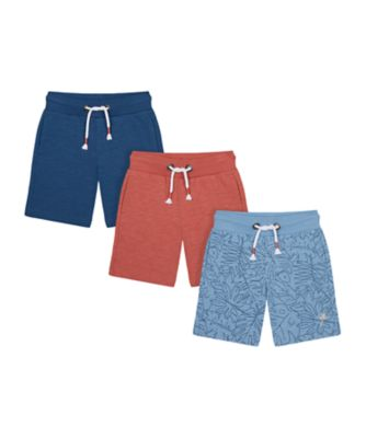 Mothercare Earth Surf Palm Orange Blue Shorts - 3 Pack
