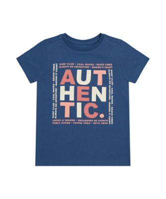 Mothercare Earth Surf Navy Authentic Uber Short Sleeve T-Shirt