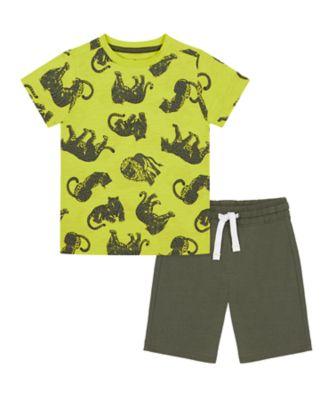Mothercare Tropic Cool T-Shirt And Shorts Set