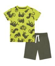 Mothercare Big Cat T-Shirt And Shorts Set