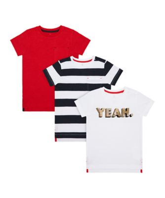Mothercare Crimson Stone Short Sleeve T-Shirt - 3 Pack