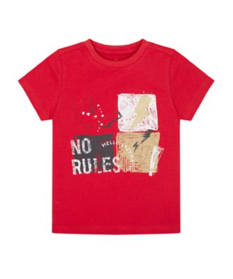 Mothercare Crimson Stone Red No Rules Uber Short Sleeve T-Shirt