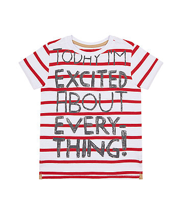 Mothercare Excited Reverse-Print T-Shirt