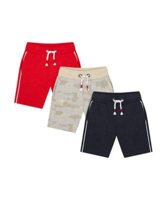 Mothercare Crimson Stone Shorts - 3 Pack