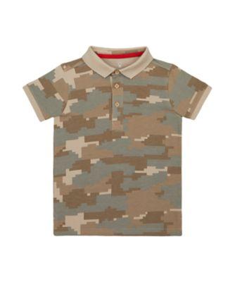 Mothercare Crimson Stone Camoflauge Allover Polo T-Shirt