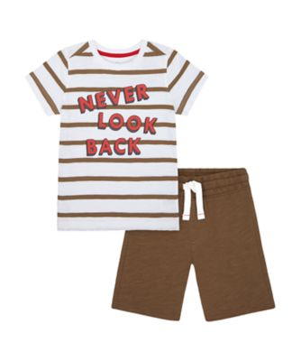 Mothercare Crimson Stone Never Look Back T-Shirt And Shorts Set
