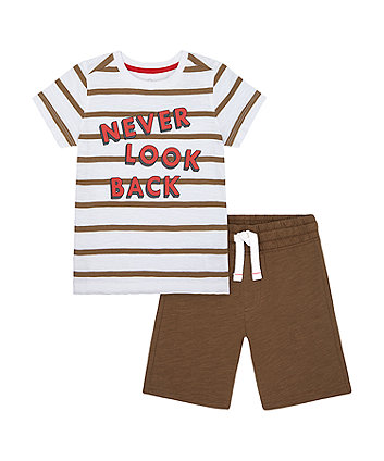 Mothercare Never Look Back T-Shirt And Jersey Shorts Set