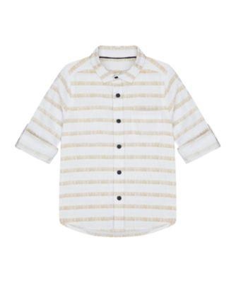 Mothercare Crimson Stone White Stripe Long Sleeve Shirt