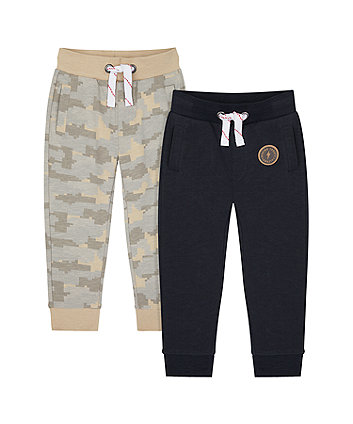Mothercare Navy And Camouflage Joggers - 2 Pack