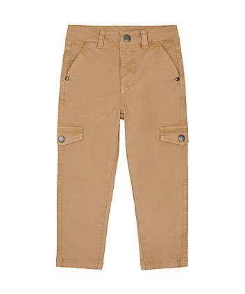 Mothercare Beige Slim Cargo Trousers