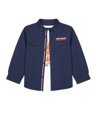 Mothercare Crimson Stone Keep It Real Shirt And Long Sleeve T-Shirt