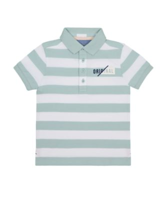 Mothercare Yacht Club Blue Stripe Polo T-Shirt