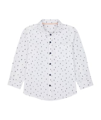 Mothercare Yacht Club White Allover Print Long Sleeve Shirt
