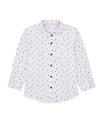Mothercare White Printed Shirt