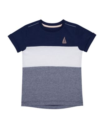 Mothercare Yacht Club Block Stripe Short Sleeve T-Shirt