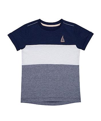 Mothercare Block-Stripe Boat T-Shirt