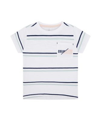 Mothercare Yacht Club Stripe Pocket Short Sleeve T-Shirt